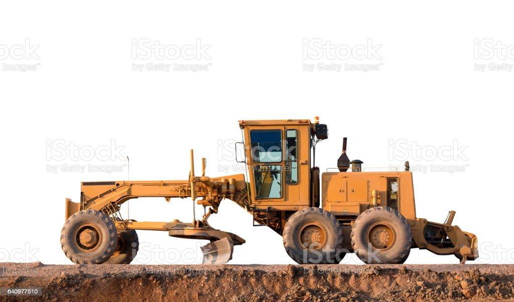 Grader Road Construction Grader industrial machine stock photo