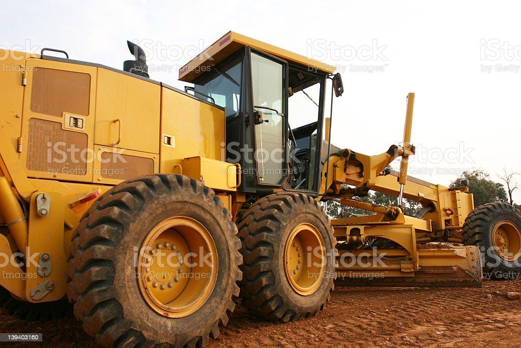 Grader road construction stock photo
