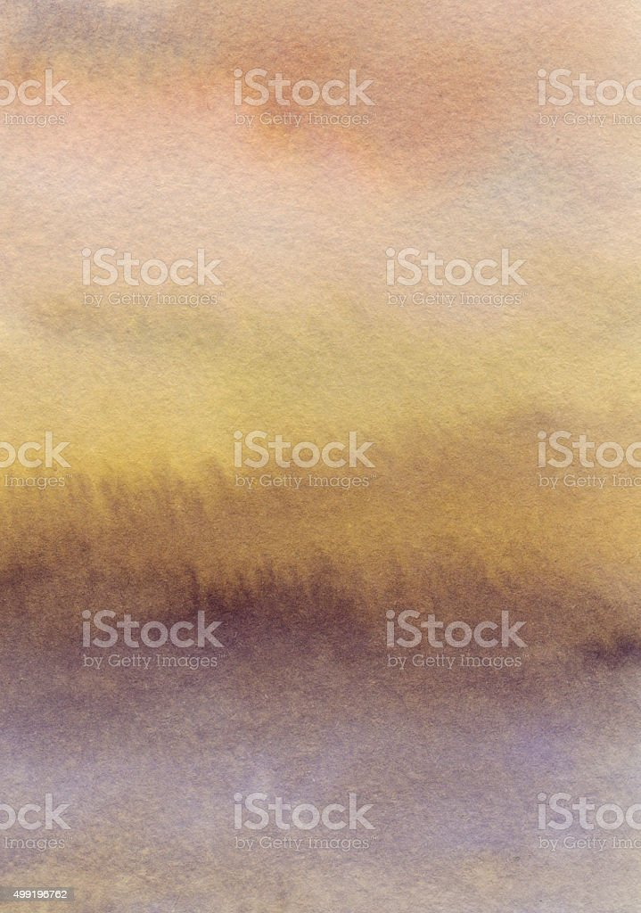 Gradient background hand painted with earth colors stock photo