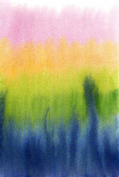 Gradient background on watercolor paper. stock photo