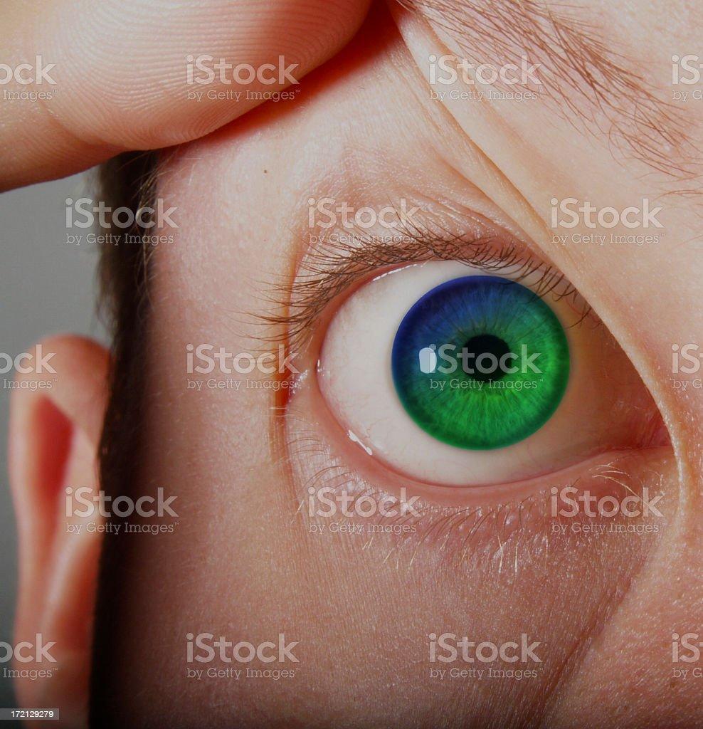 Gradient eye stock photo