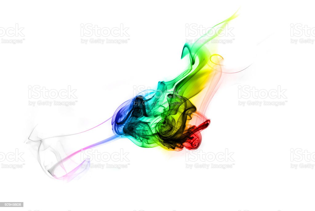 Gradient fume abstract curves royalty-free stock photo