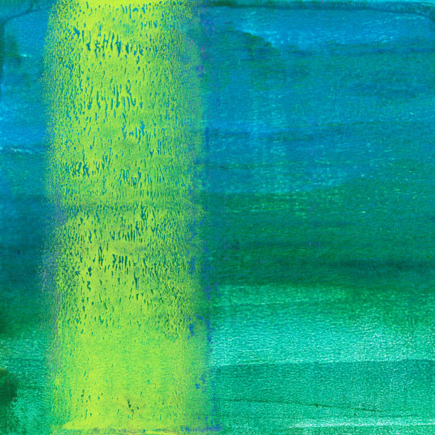 Gradient green and blue lines mixed media background stock photo