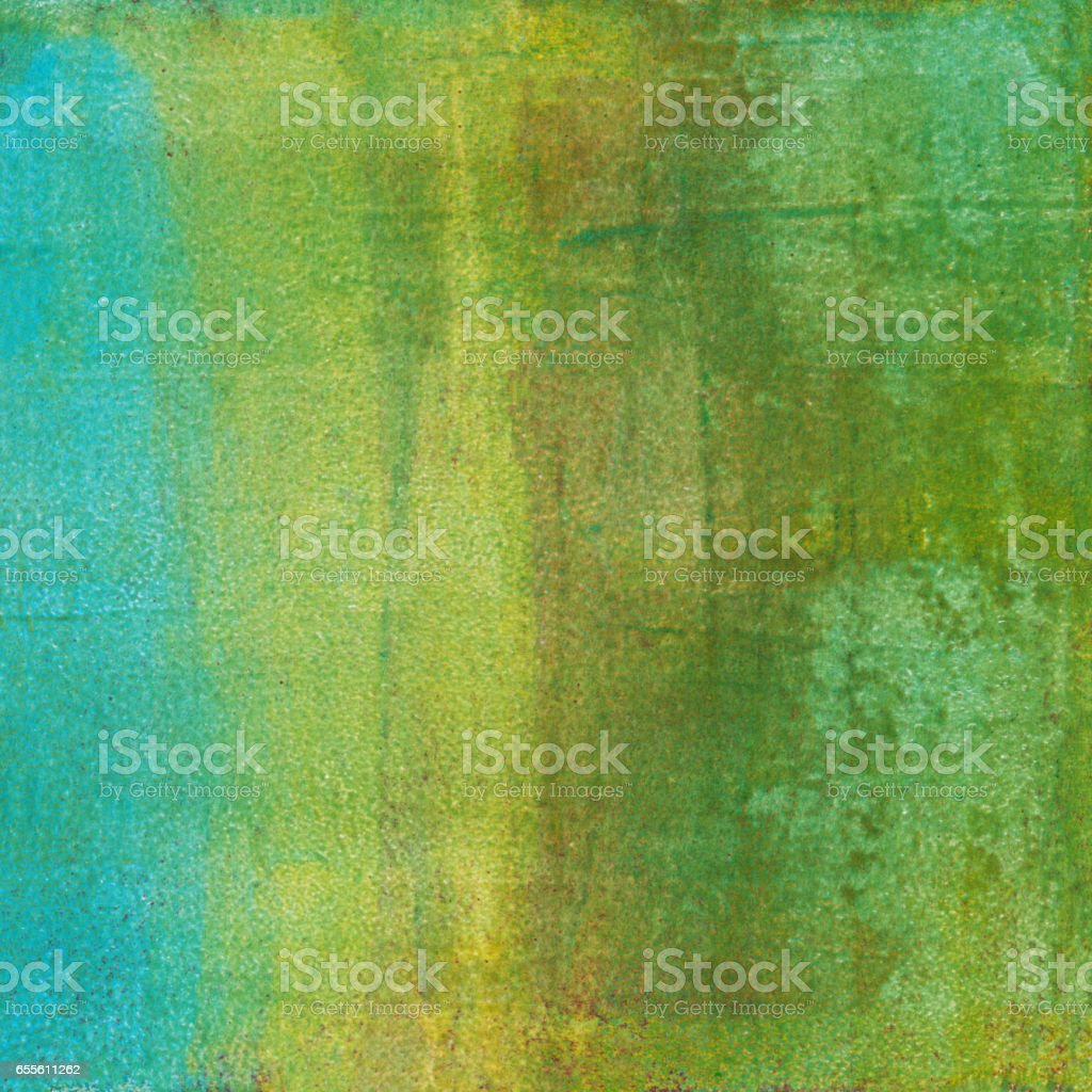 Gradient green and blue mixed media background stock photo