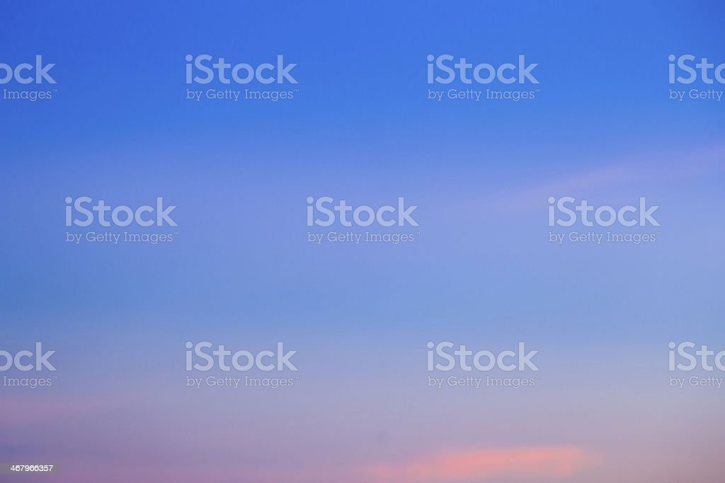 Gradient sky in the evening. royalty-free stock photo