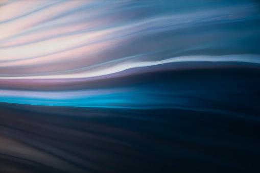 Macro shot of Colorful fluid acrylic paint