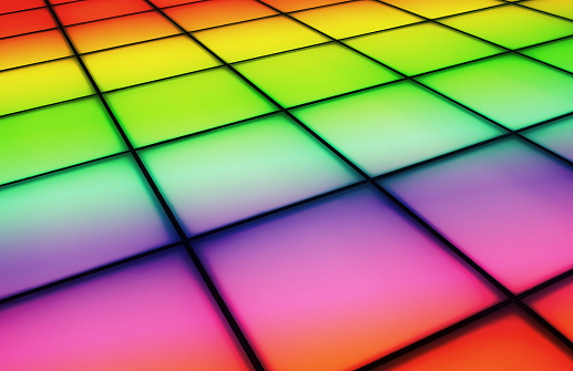 Gradual change effect of dancing floor background