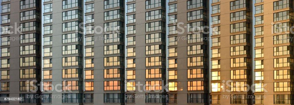 Gradual change of sunlight stock photo