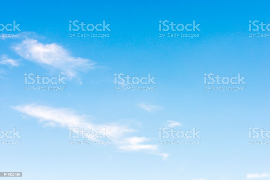 gradual nice blue sky with clouds stock photo