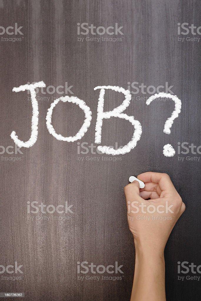 Graduate unemployment concept royalty-free stock photo