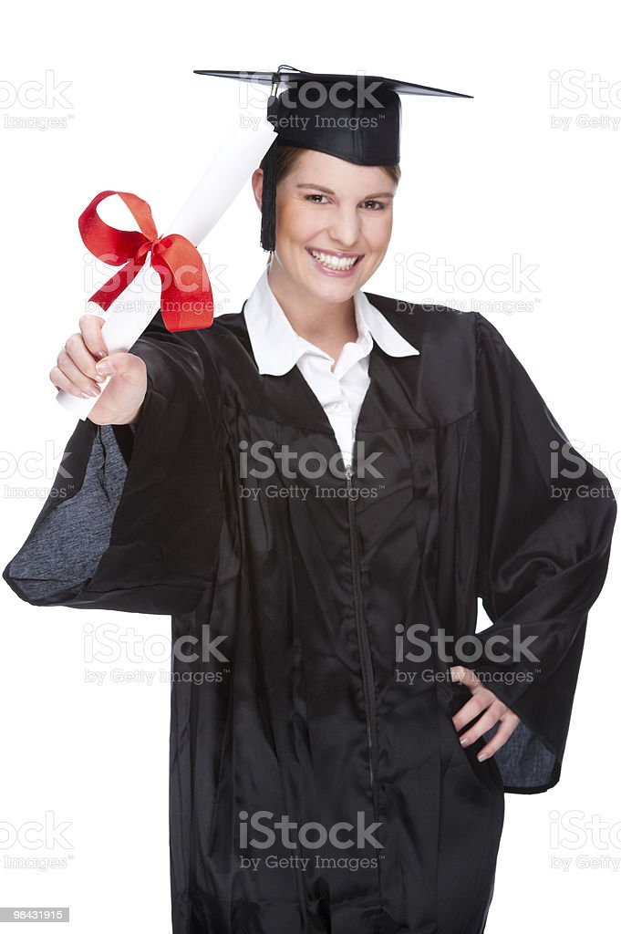 Graduate woman royalty-free stock photo