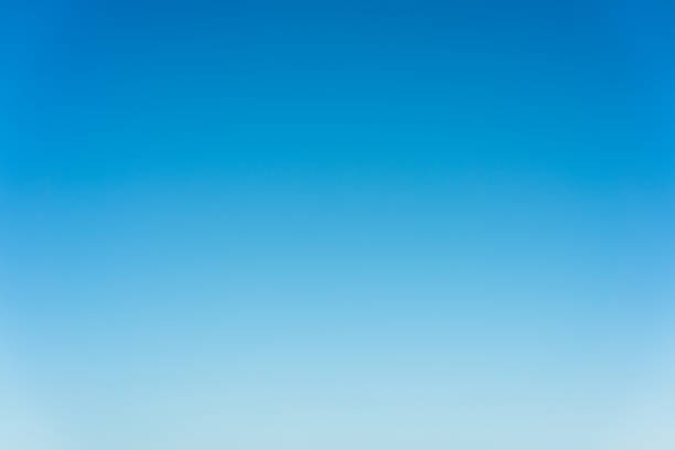 Graduated blue summer sky - genuine photograph stock photo