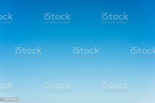 Photo of Graduated blue summer sky - genuine photograph