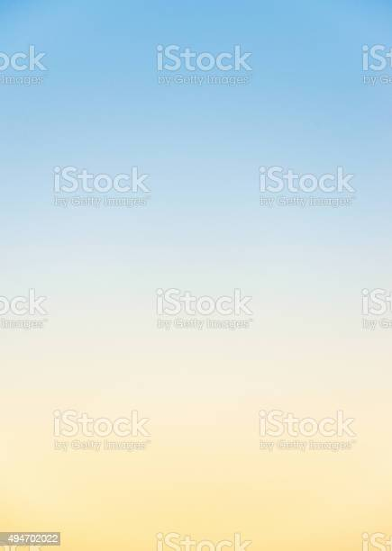 Photo of Graduated clear sky colours at sunset