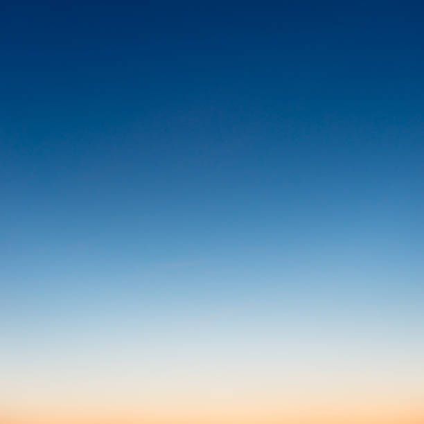 graduated colours at dusk in photograph of sky - clear sky stock pictures, royalty-free photos & images