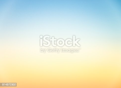 istock Graduated empty sky horizon at sunset - genuine photograph 514572302