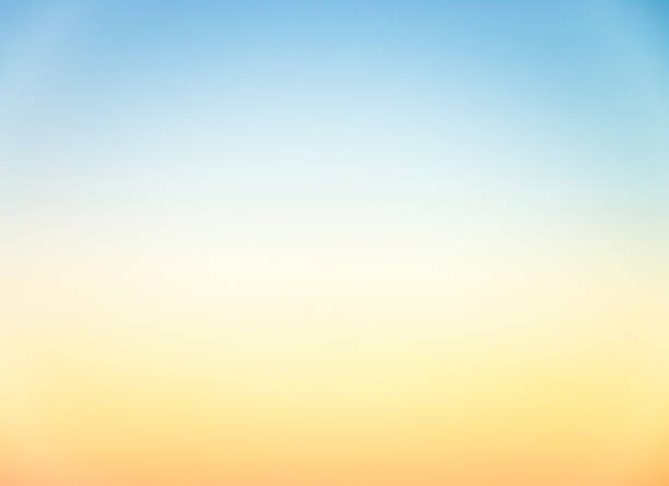graduated empty sky horizon at sunset - genuine photograph - pastel colored stock pictures, royalty-free photos & images