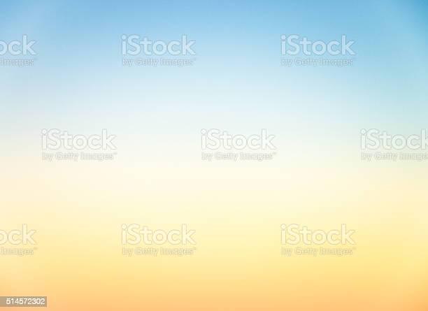 Photo of Graduated empty sky horizon at sunset - genuine photograph