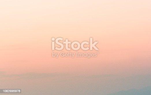 istock Graduated empty sky horizon at sunset 1062695978