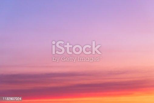 istock Graduated empty sky horizon at sunset 1132907024