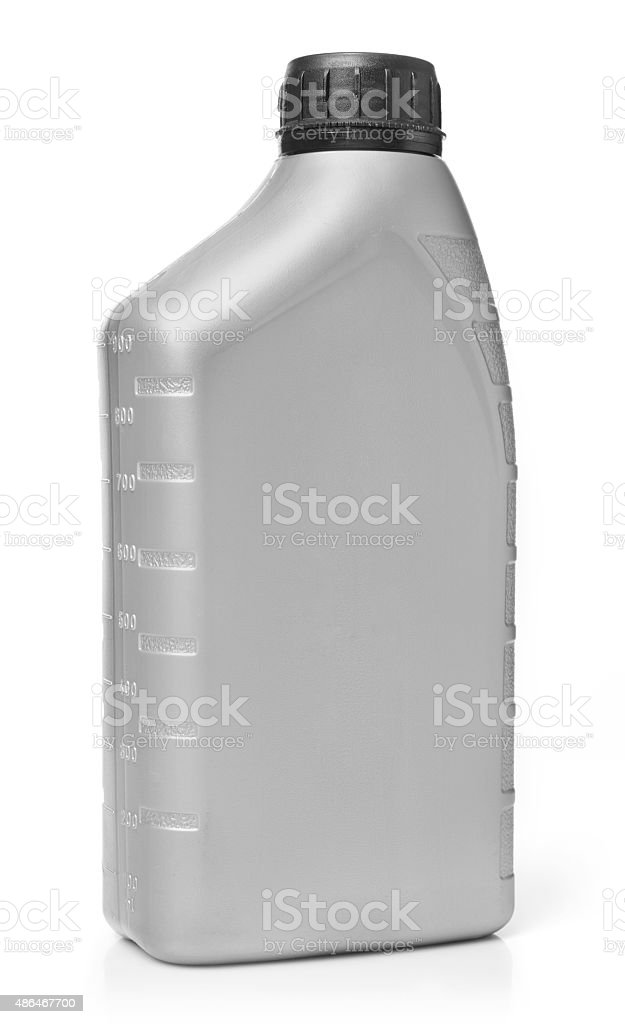 Graduated oil bottle stock photo