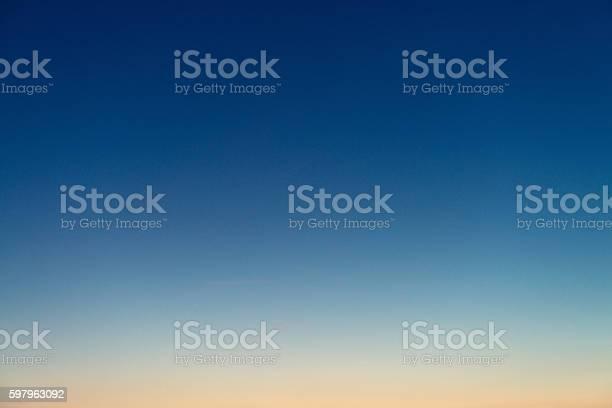 Photo of Graduated twilight horizon sky
