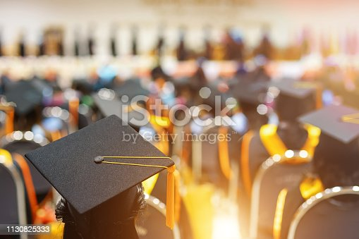istock Graduates in graduation ceremony 1130825333