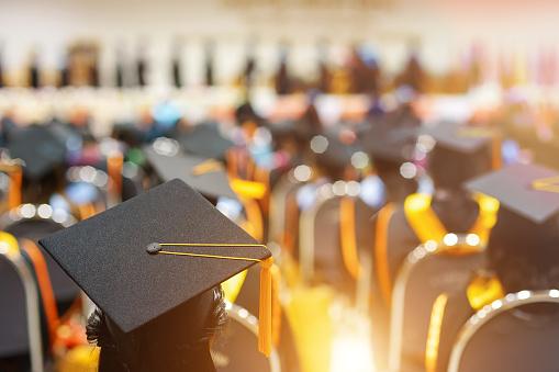 istock Graduates in graduation ceremony 1130825333