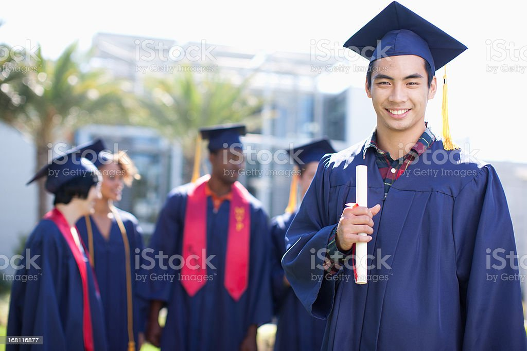 Graduates royalty-free stock photo