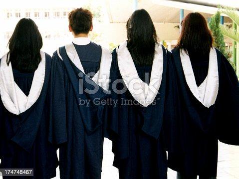 Back of graduates.