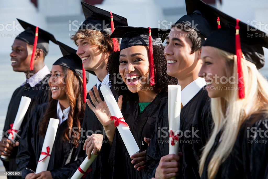 Graduating class stock photo