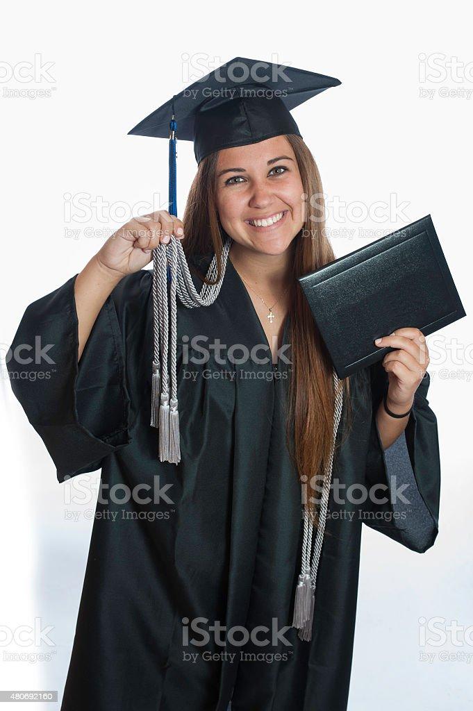 Graduating Magna Cum Laude stock photo