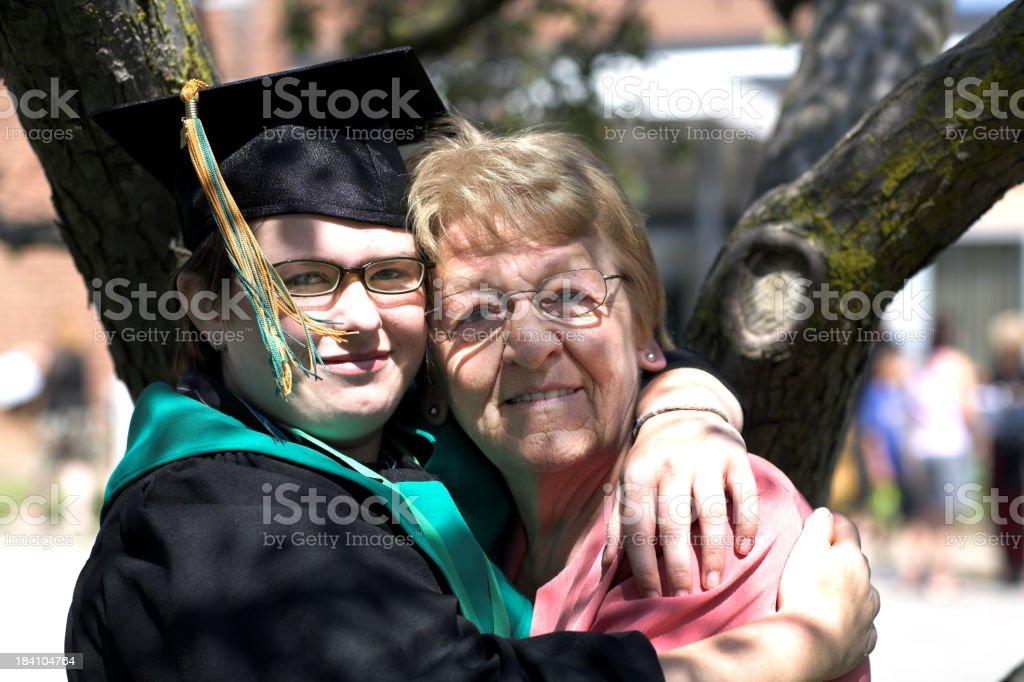 Graduating student stock photo