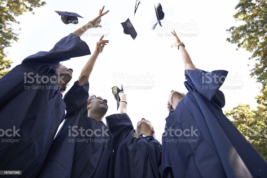 Graduating together royalty-free stock photo