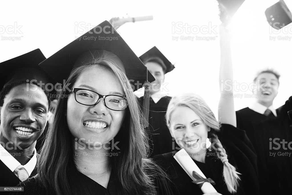 Graduation Achievement Student School College Concept stock photo