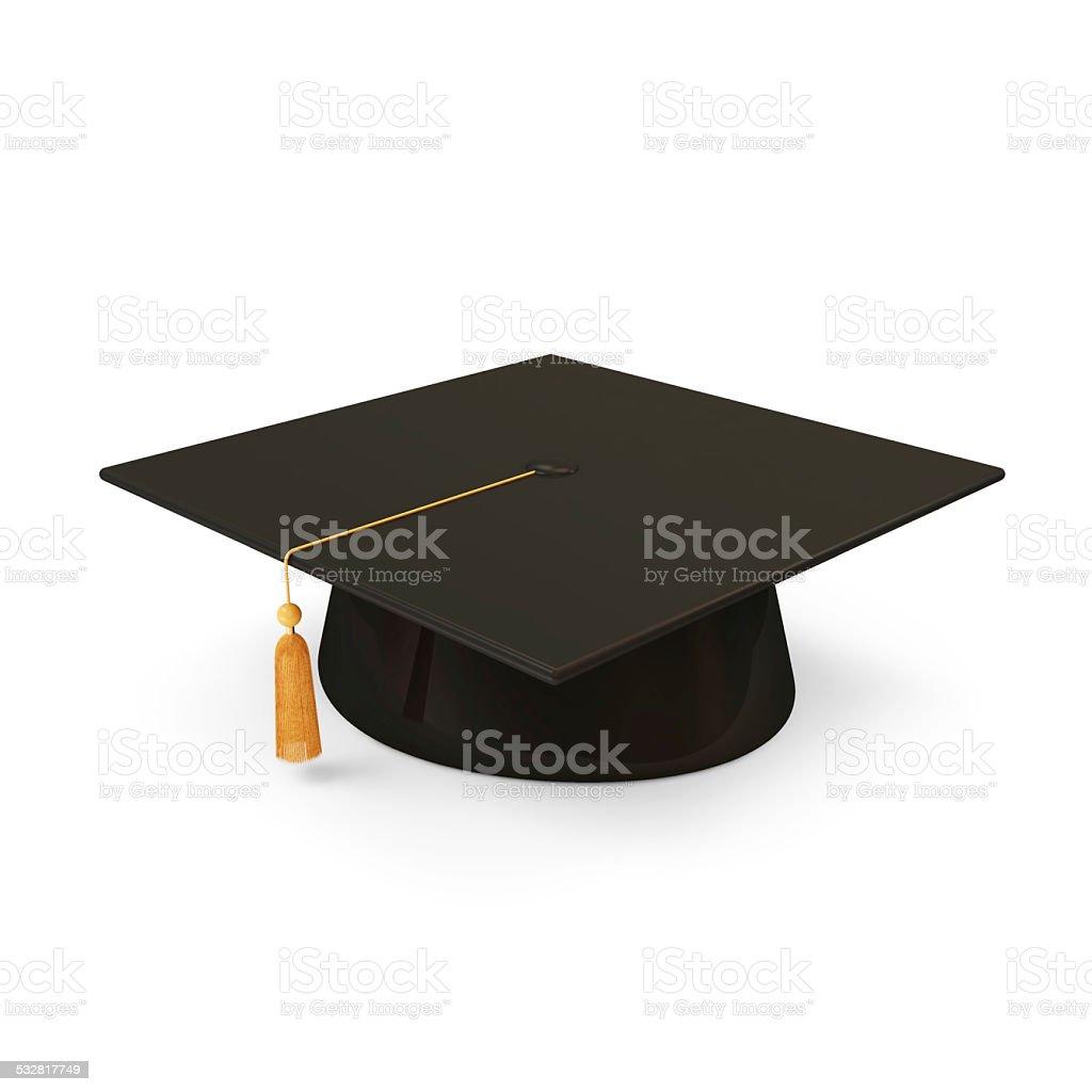 Graduation Cap, isoliert auf weißem Hintergrund – Foto