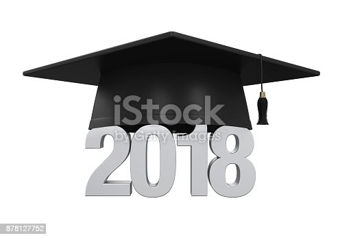 istock 2018 Graduation Cap Isolated 878127752