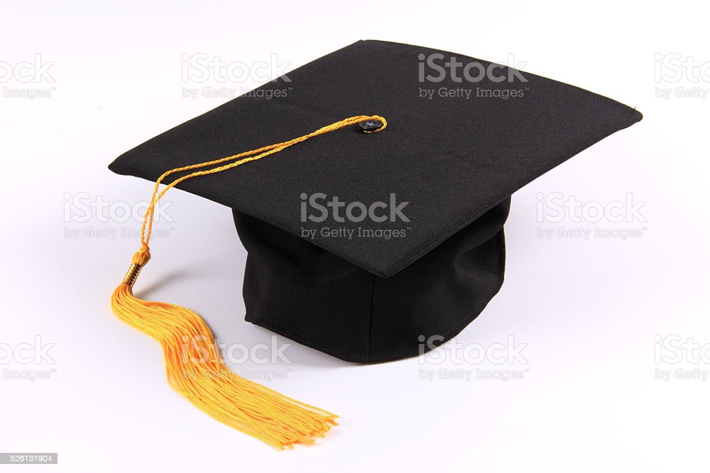Graduation cap stock photo