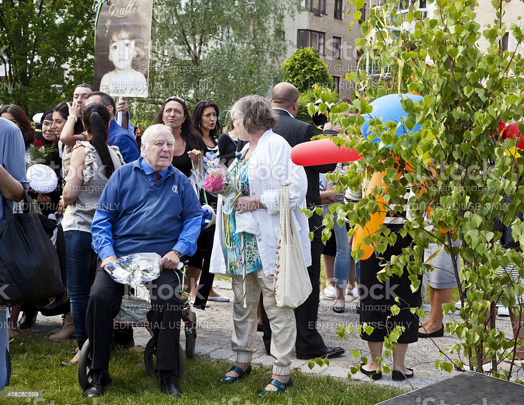 Graduación celebración en Suecia. - foto de stock