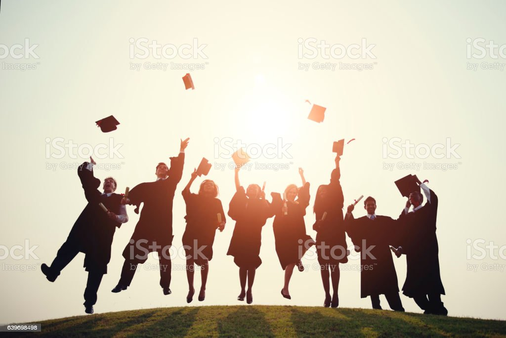 Graduation College School Degree Successful Concept – Foto