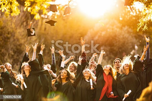 istock Graduation day at sunset! 1093526208