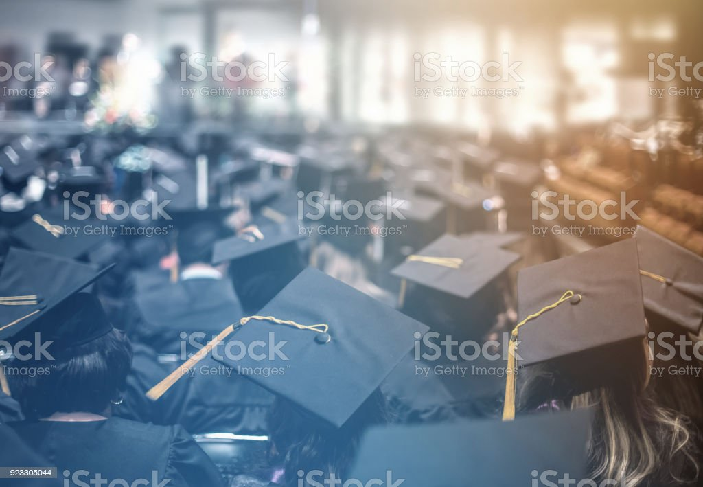 Graduation day. Commencement day.  Education Concept. stock photo