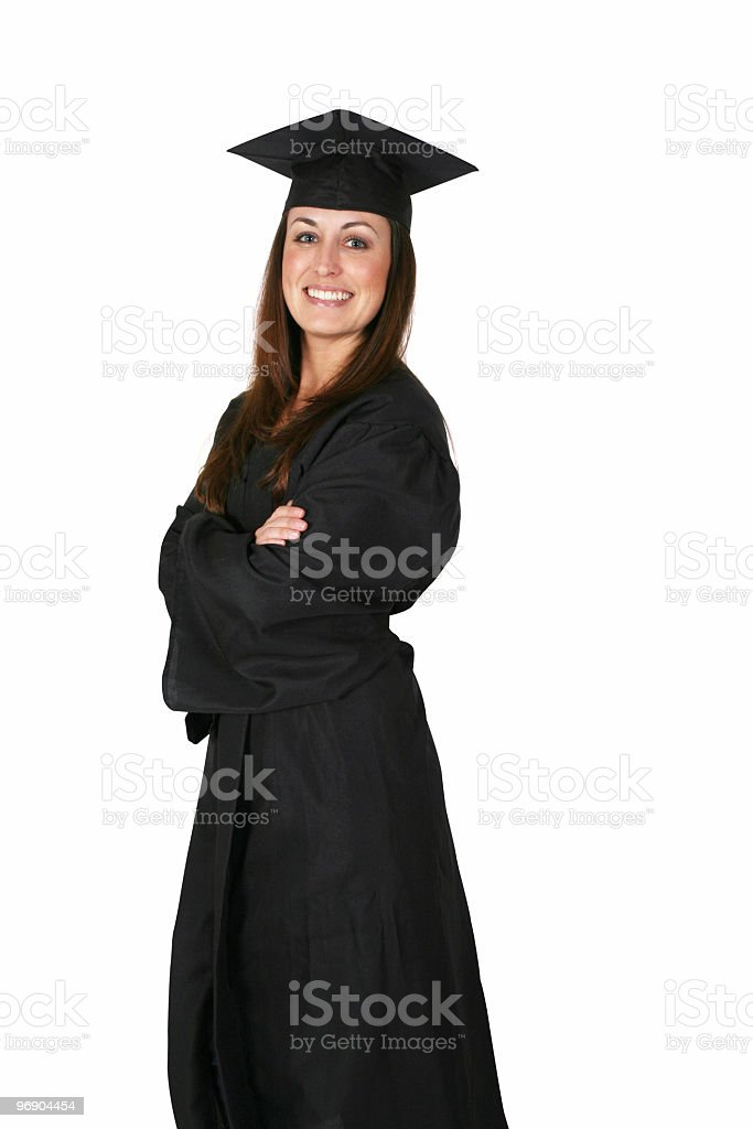 Graduation female royalty-free stock photo