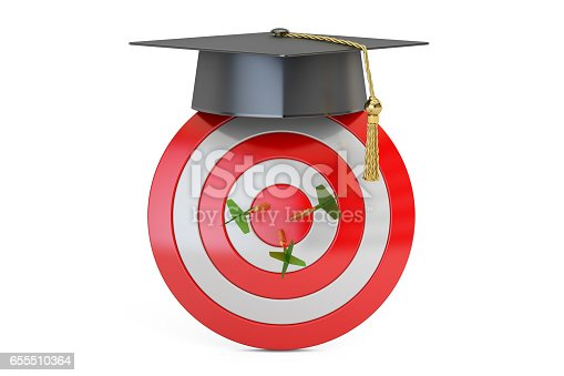 istock Graduation Goal, Education Target Concept, 3D rendering 655510364