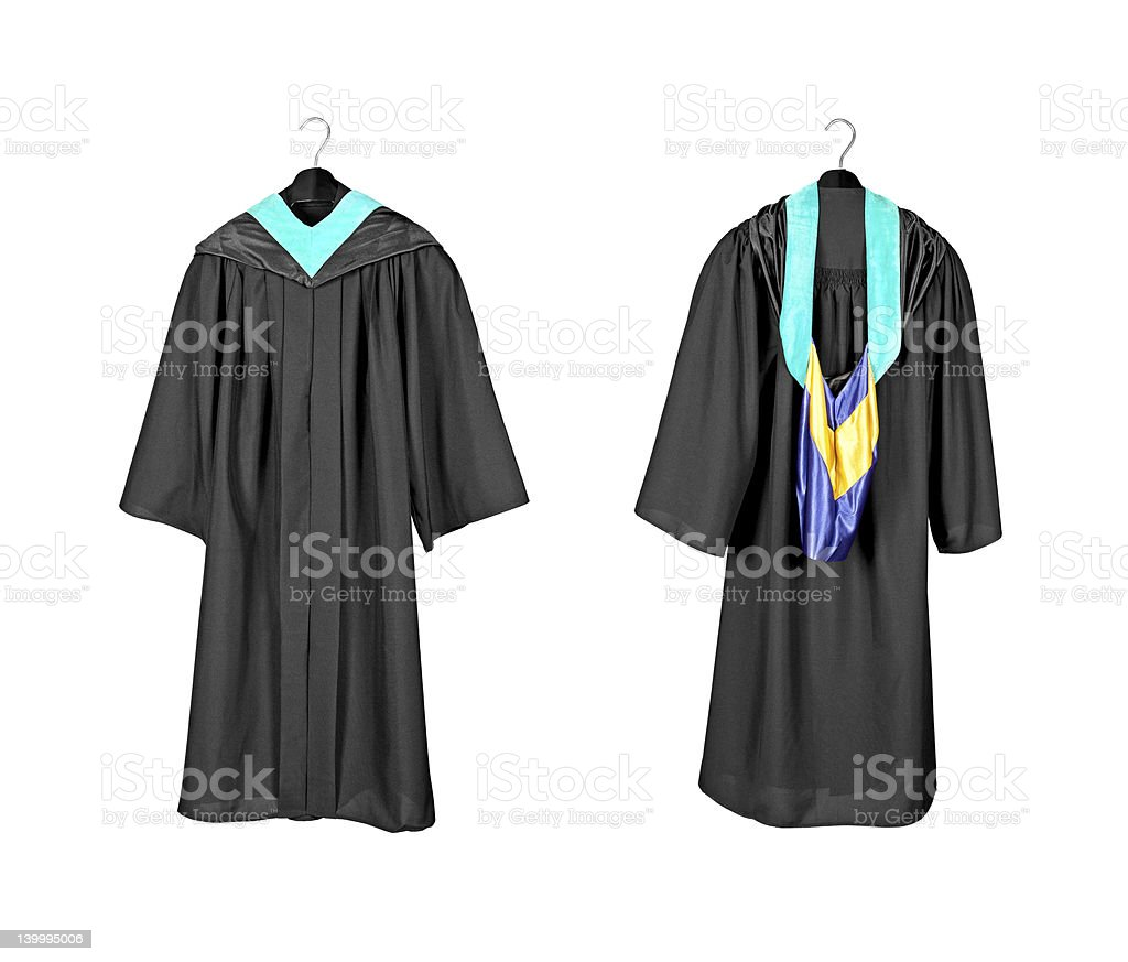 Graduation Gown With Hood Stock Photo & More Pictures of Black Color ...