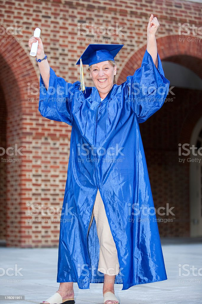 Graduation Granny royalty-free stock photo