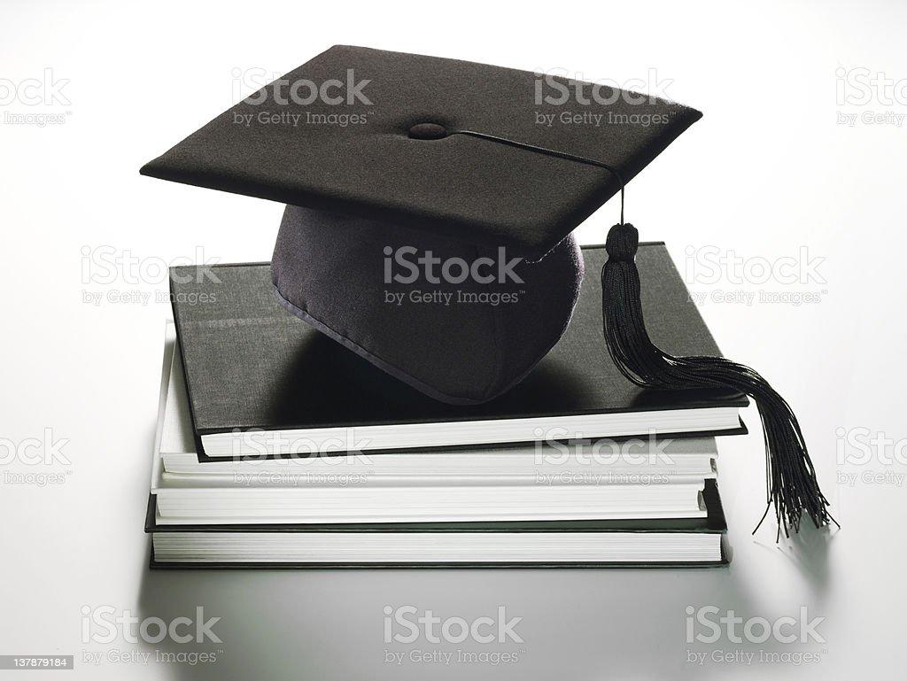 Chapeau livres de remise des diplômes - Photo