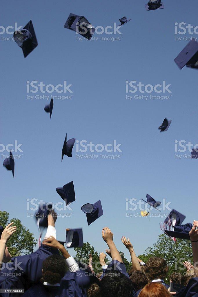 Graduation Hats royalty-free stock photo
