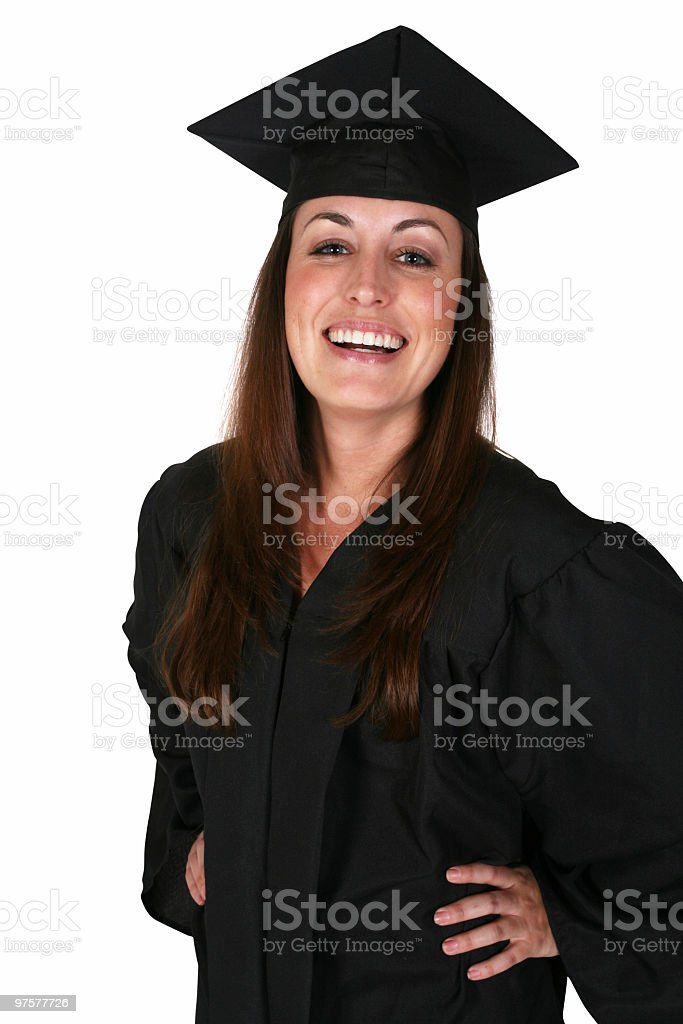 Graduation is so fun royalty-free stock photo