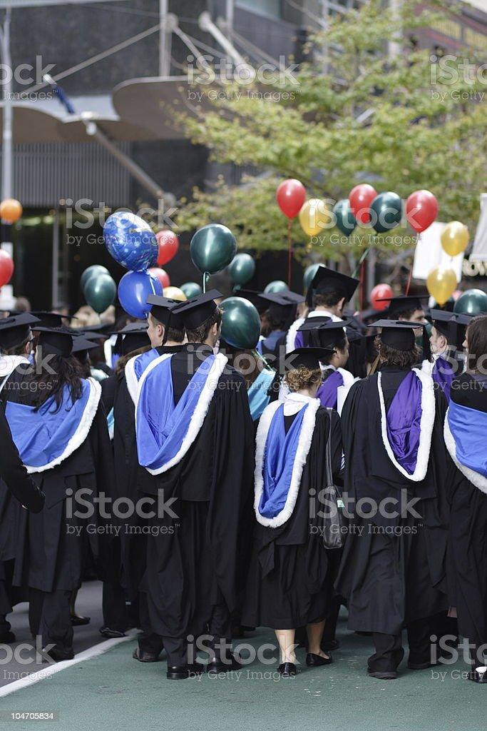 Graduation March royalty-free stock photo